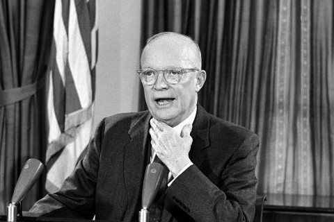 Dwight Eisenhower during farewell speech on January 17, 1961
