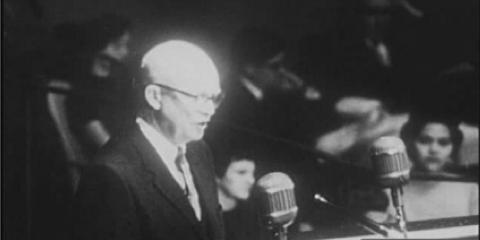 President Eisenhower addresses the United Nations in 1958