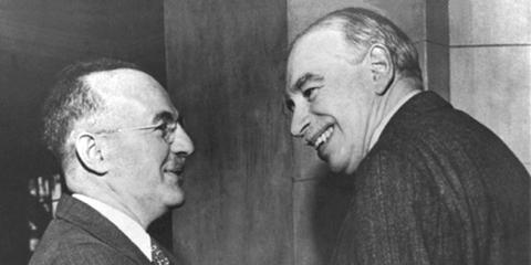 Harry Dexter White with John Maynard Keynes