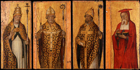 St. Gregory the Great, St. Ambrose, St. Augustine, and St. Jerome