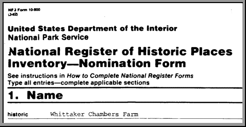 National Register of Historical Places Inventory -- Nomination Form