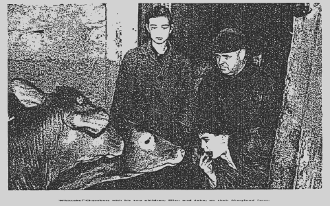 Whittaker Chambers and his daughter and son
