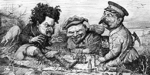 Trostky + Lenin + Stalin